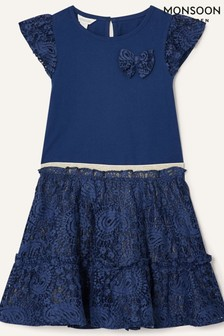 Monsoon Lace Top and Skirt Set