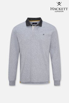 Hackett Mens Grey Refined Rugby Shirts