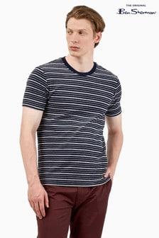 Ben Sherman Blue Marine Textured Stripe T-Shirt