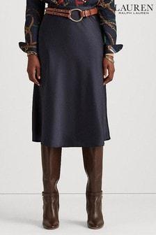 Lauren Ralph Lauren Womens Navy Sharae Straight Skirt