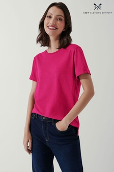 Crew Clothing Company Pink Perfect Crew Slub T-Shirt