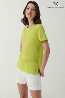 Crew Clothing Company Yellow Perfect Crew Slub T-Shirt