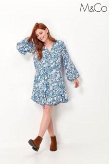 M&Co Floral Drop Waist Dress