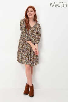 M&Co Floral Tiered Dress