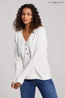 Tommy Hilfiger Natural Hayana V-Neck Sweater