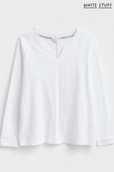 White Stuff White Long Sleeve Nelly T-Shirt
