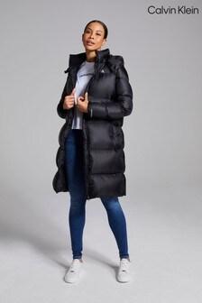 Calvin Klein Black Down Shiny Puffer Jacket