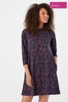 Joules Layla Print A-Line Jersey Dress