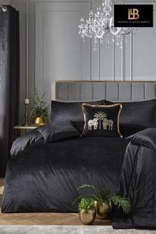 Laurence Llewelyn-Bowen Black Montrose Duvet Cover and Pillowcase Set