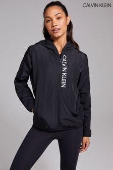 Calvin Klein Womens Black Woven Jacket