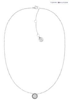 Tommy Hilfiger Silver Crystal Necklace
