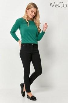 M&Co Petite Black Supersoft Slim Jeans