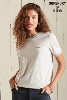 Superdry Vintage Logo Embroidered Ringer T-Shirt