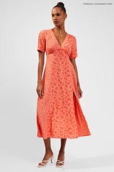 French Connection Bonita Drape V-Neck Maxi Dress