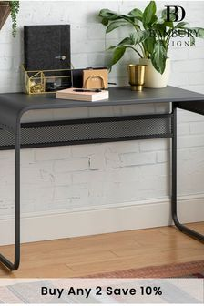 Banbury Designs Metal Desk with Curved Top