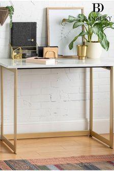 Banbury Designs Faux Marble Desk