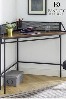 Banbury Designs Corner Desk with Mesh
