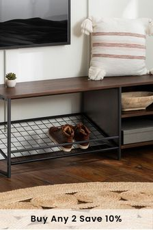 Banbury Designs Entry Bench with Shoe Storage