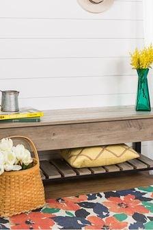 Banbury Designs Open Top Storage Bench with Shoe Shelf