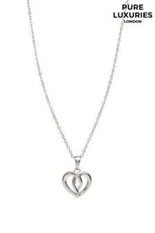Pure Luxuries London Women Silver Keller Cubic Zirconia Necklace