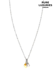 Pure Luxuries London Womens Silver Fonseca Freshwater Pearl Necklace