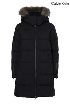 Calvin Klein Black Modern Coat
