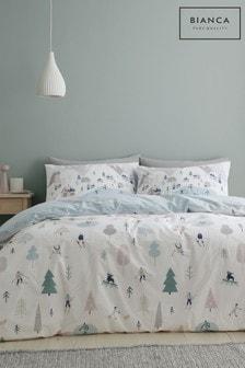 Bianca White Winter Fun Duvet Cover and Pillowcase Set