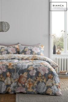 Bianca Grey Tuileries Duvet Cover and Pillowcase Set