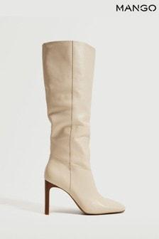 Mango Leather Boots