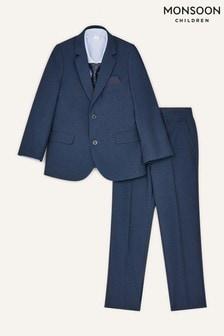 Monsoon Younger Boys Blue Adam Five-Piece Suit Set