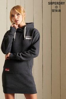 Superdry Grey Track & Field Hoodie Dress