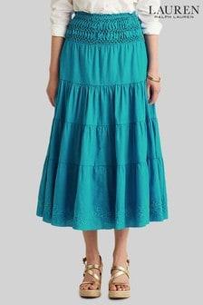 Lauren Ralph Lauren Blue Lanna Skirt