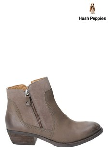 Hush Puppies Isla Zip Up Ankle Boots