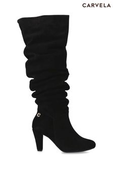 Carvela Comfort Black Rita Knee Boots