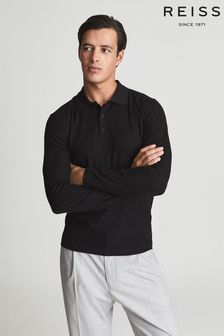 Reiss Chester Ribbed Cotton Polo Shirt