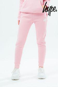 Hype. Girls Pink Script Joggers