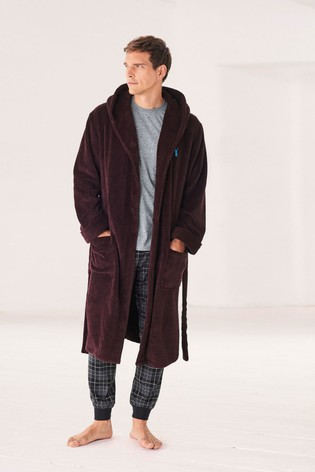 Buy Plum Super Soft Hooded Dressing Gown from Next Australia 2f6eb6b6d