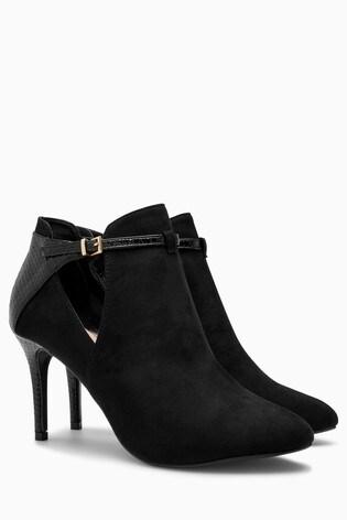 0e03819f5ec Buy Black Forever Comfort Open Side Shoe Boots from Next Australia