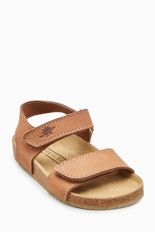 c580db26b Buy Tan Smart Leather Corkbed Sandals (Younger) from Next Australia