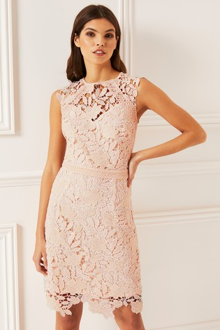 f64d3f6e40248 Buy Lipsy Two Tone Lace A line Midi Dress from Next Australia